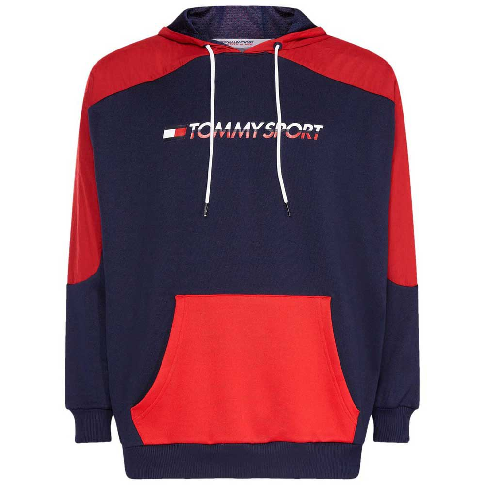 bb13769d Tommy hilfiger Block Hoody Logo Red buy and offers on Dressinn