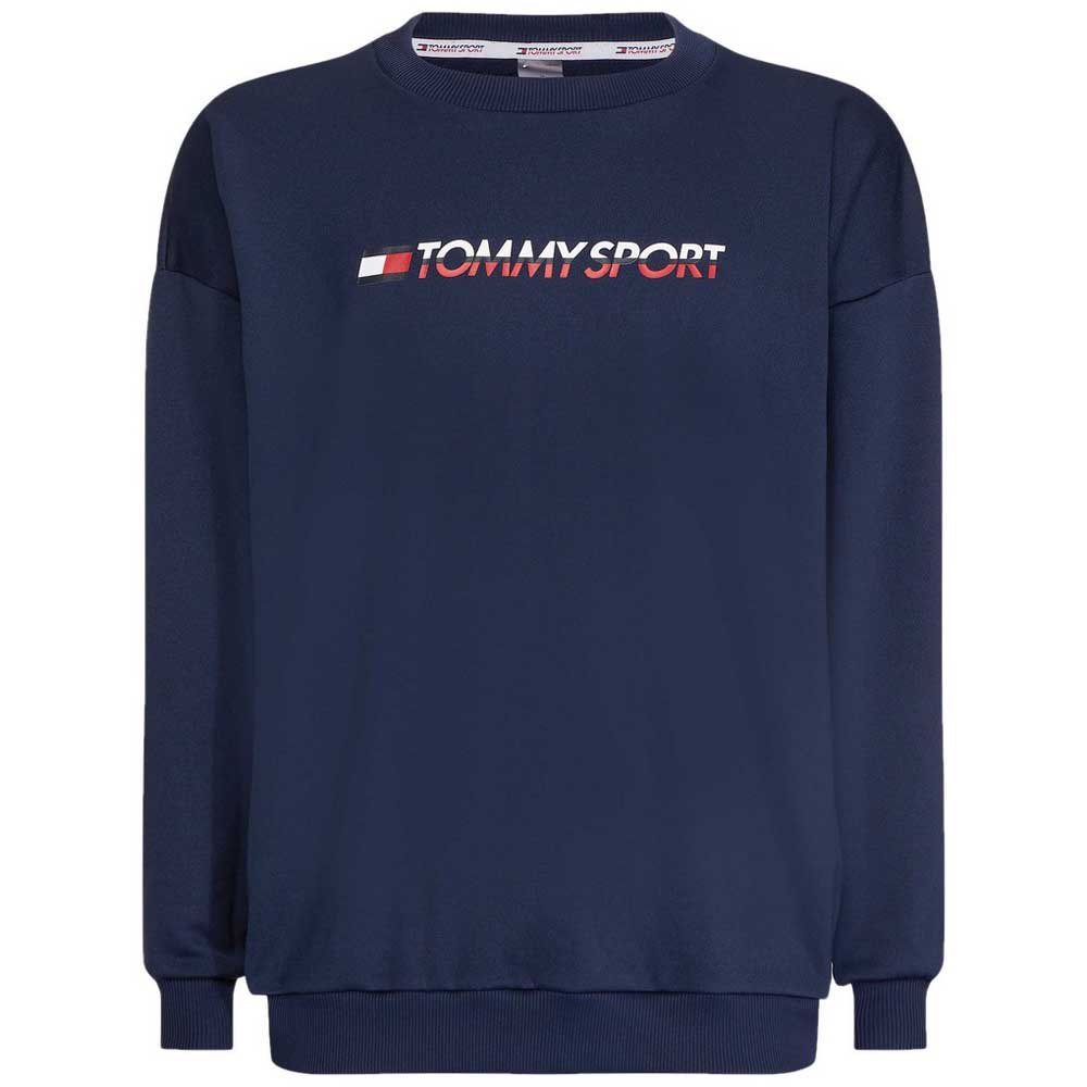 a3c819d4a Tommy hilfiger Knit Crew Sweat Logo Tape Blue, Dressinn