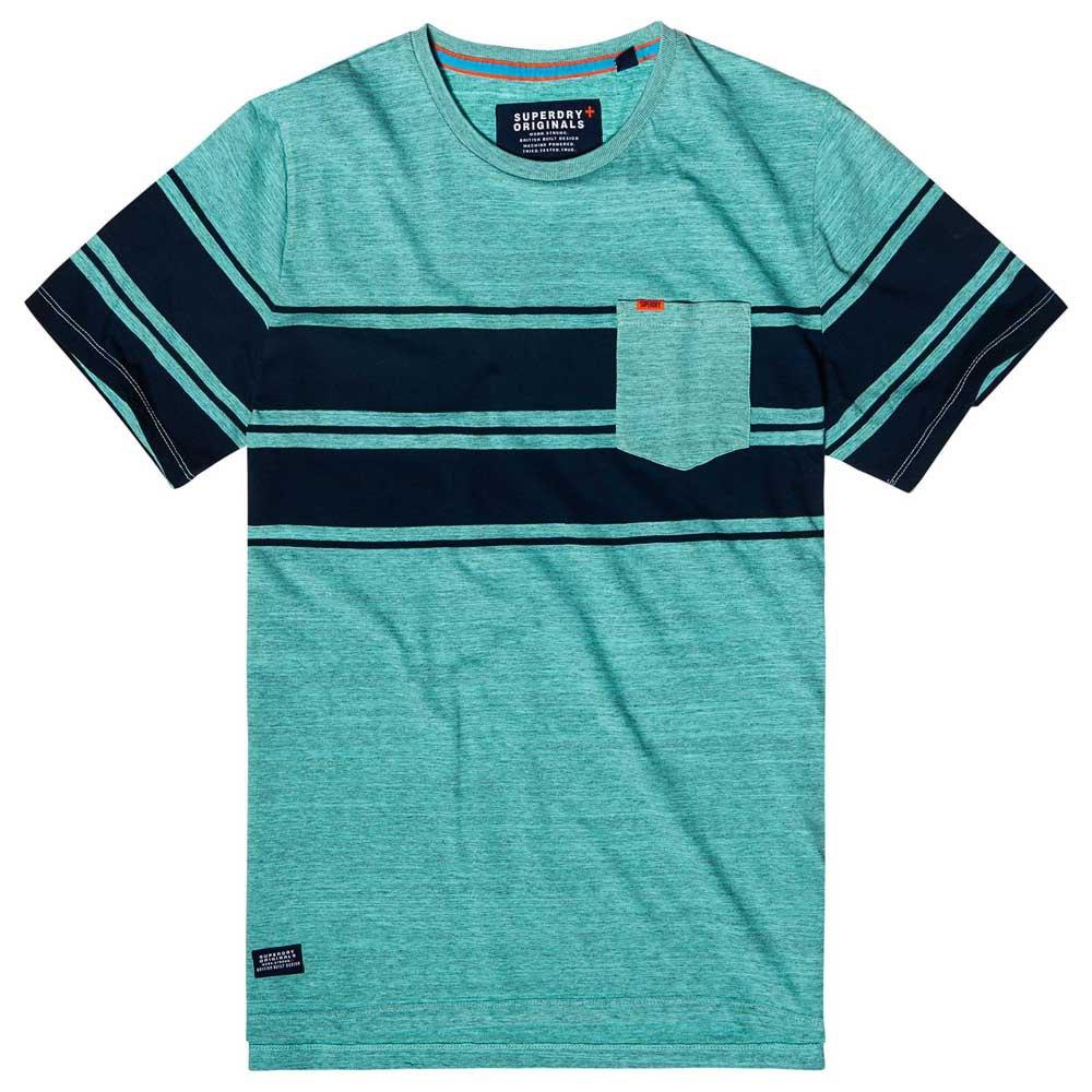Blue Superdry Men/'s Dry Originals Stripe T-Shirt