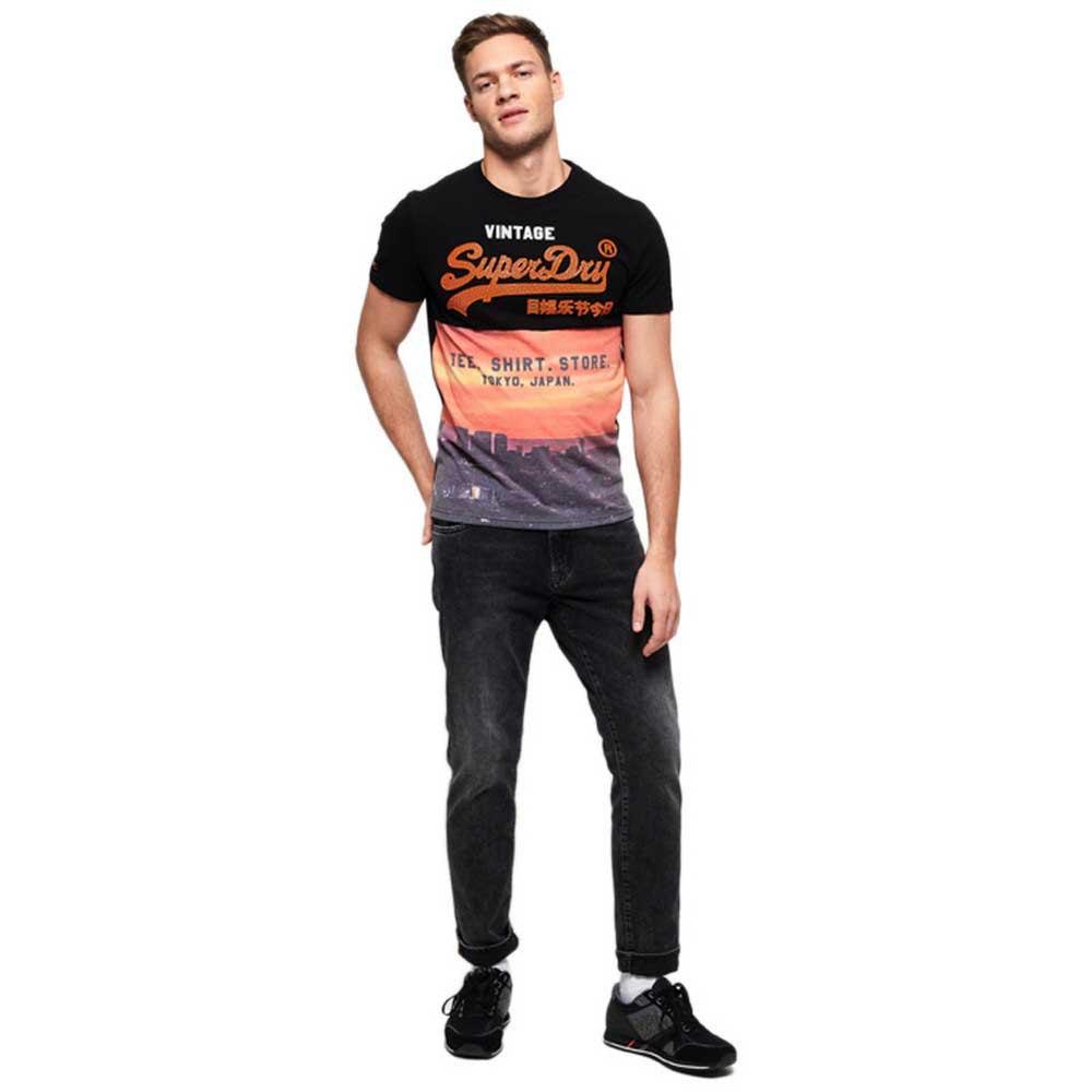 Superdry Shirt Shop Panel All Over Print Flerfarge, Dressinn