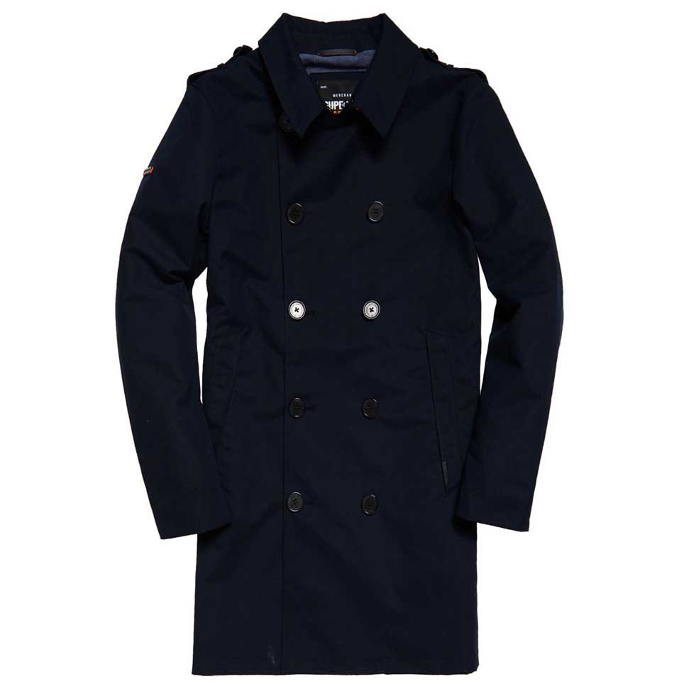 Superdry Summer Rogue Trench Schwarz, Dressinn