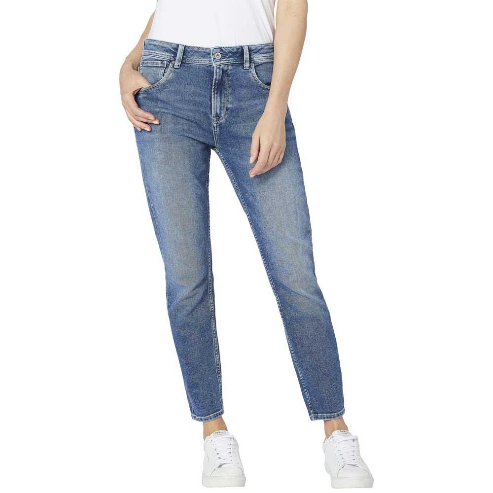 Pepe Jeans Womens Violet Boyfriend Jeans