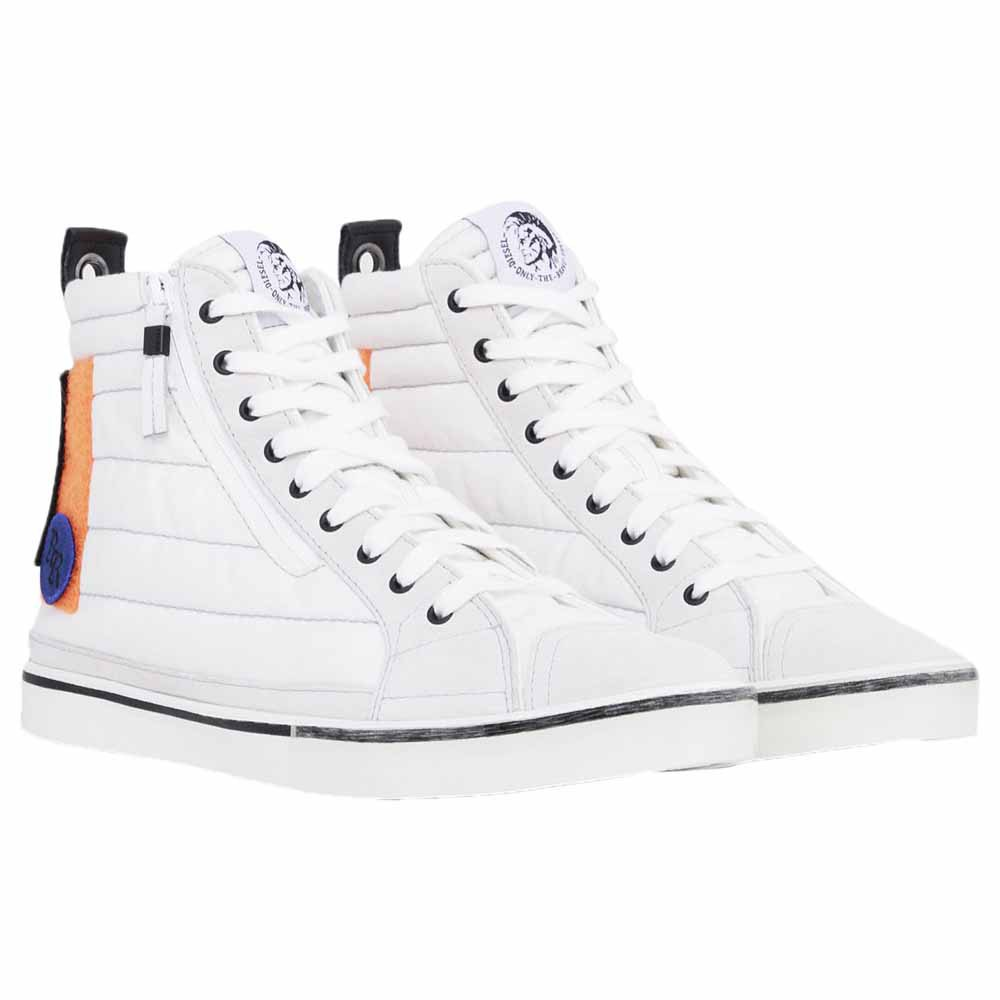 Diesel D-Velows Mid Patch White buy and