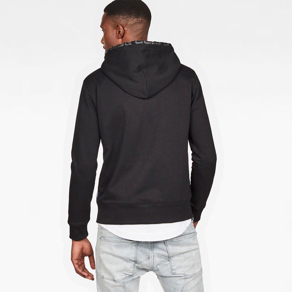 Gstar Graphic 8 Core Hooded Zip Thru Black, Dressinn