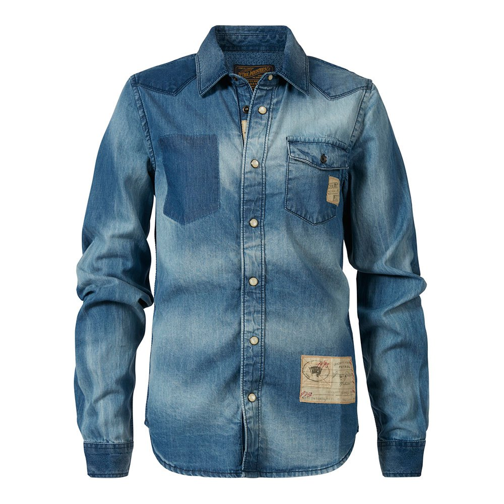 Petrol industries Shirt 424 Blue buy and offers on Dressinn