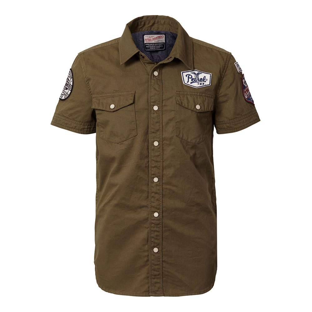 Petrol industries Shirt 449 Green buy and offers on Dressinn