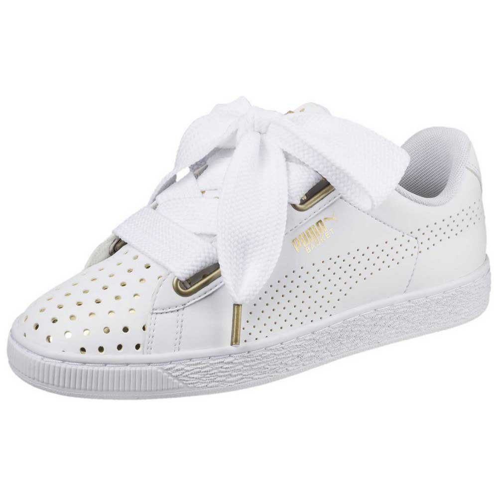cheaper 78408 351ad Puma Basket Heart Ath Lux White buy and offers on Dressinn