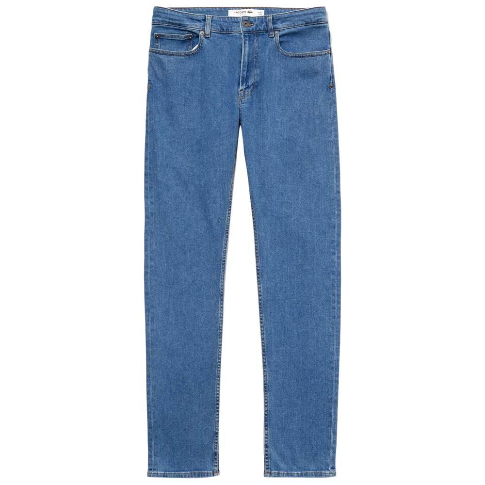 Lacoste Drill Elastic 5 Pocket Slim Blue Dressinn