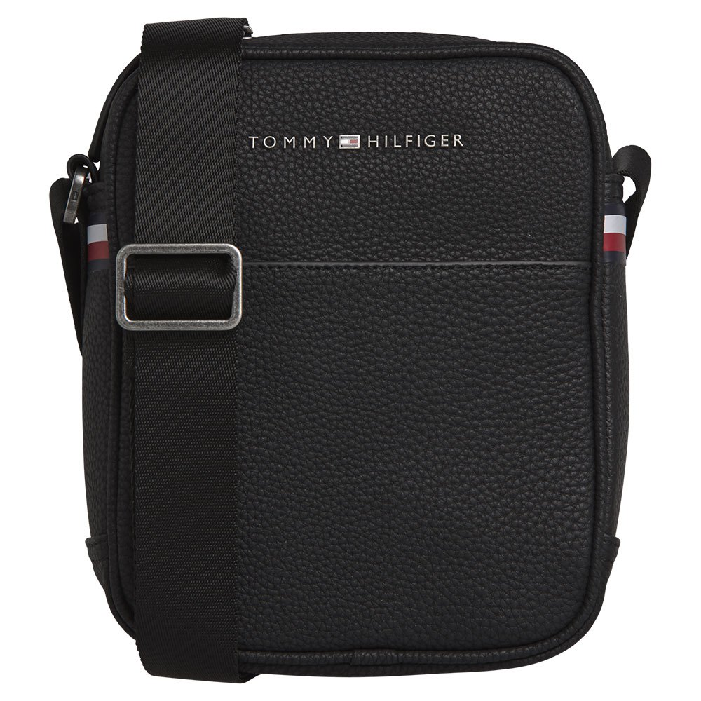 Black One Size Tommy Hilfiger Mens Mini Reporter Bag