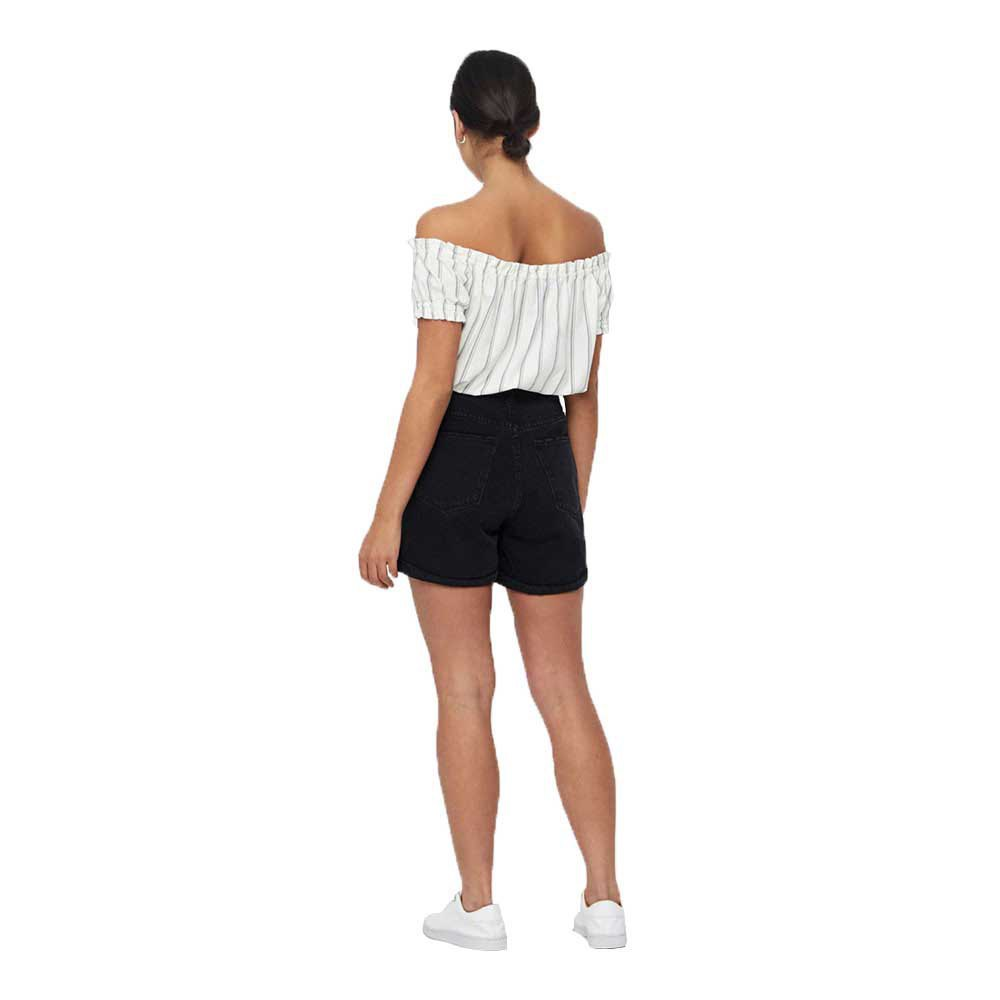 44 Vero Moda NOS Vmnineteen HR Loose Shorts Mix Noos, Pantaloncini Donna, Blu Light Blue Denim Taglia Produttore: Medium