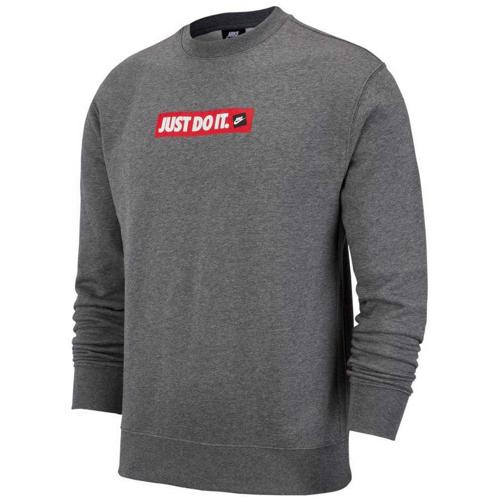 Nike Sportswear Just Do It Crew Grå kjøp og tilbud, Dressinn