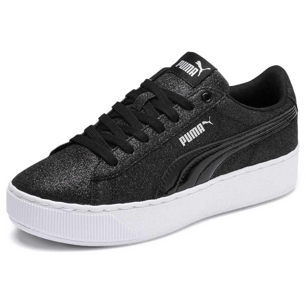 Puma Vikky Platform Glitz Junior Black