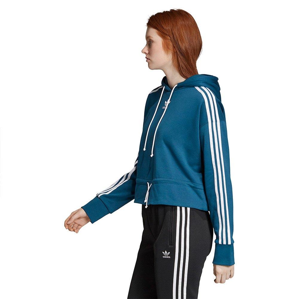 adidas originals Cropped Blå kjøp og tilbud, Dressinn Gensere