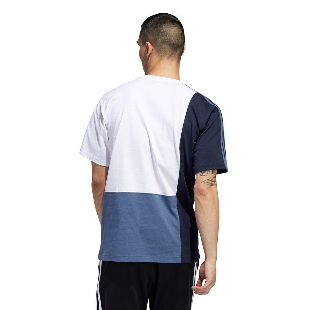 Viscoso Sustancialmente marco  adidas originals Asymm Blocked Branco, Dressinn T-shirts