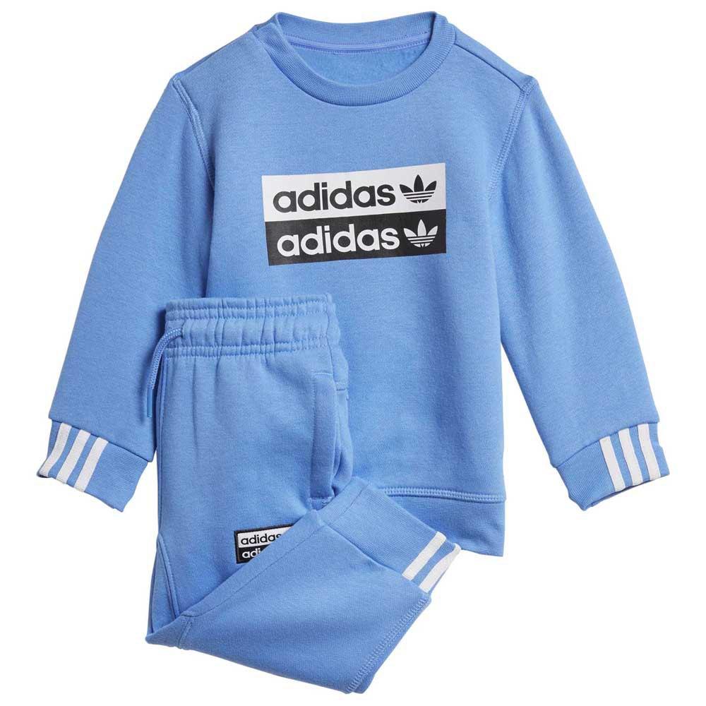 adidas originals Crew Set Infant Blå kjøp og tilbud