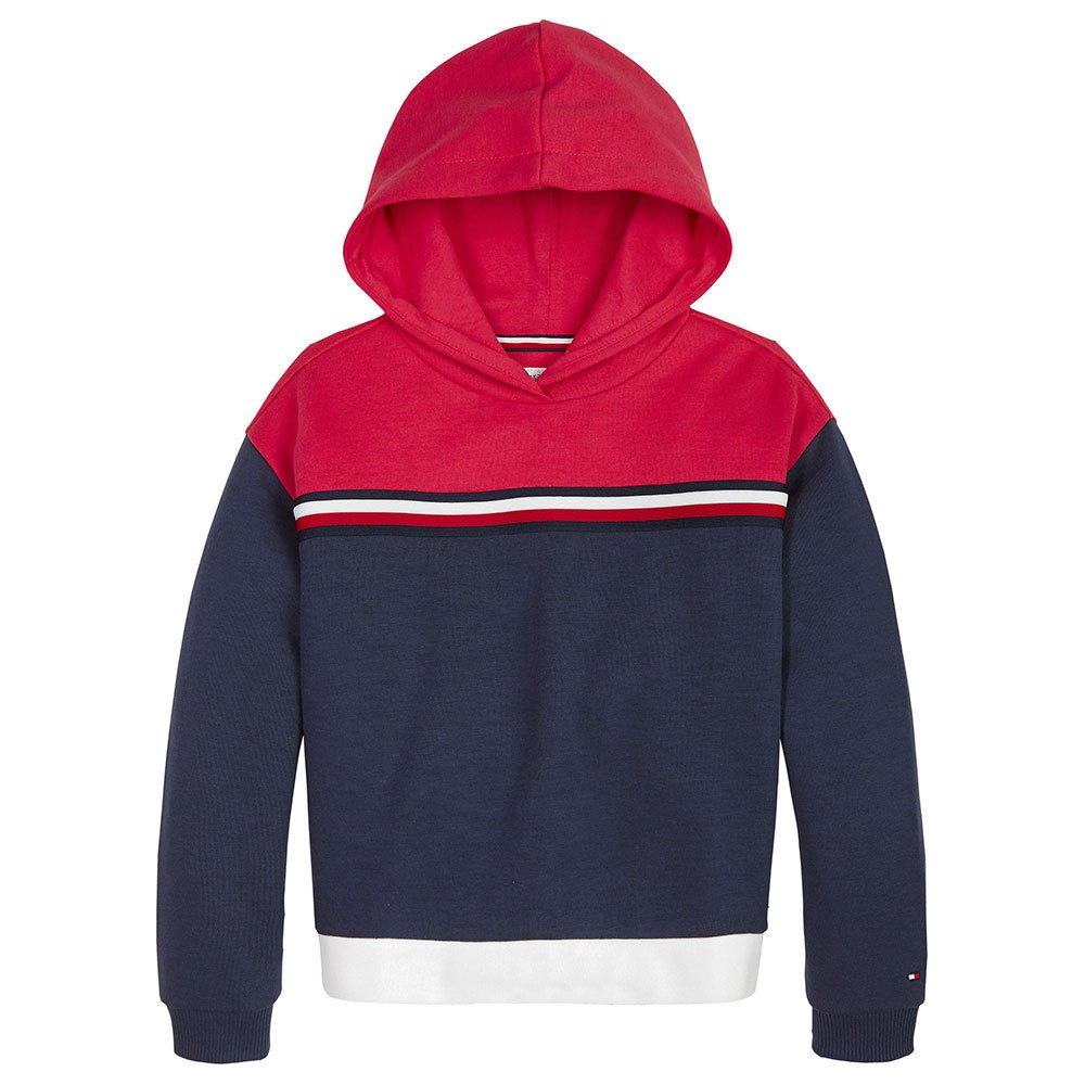 New Girls Tommy Hilfiger Fashion Sweatshirt TH Size S L Red