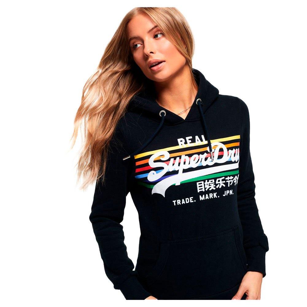 v logo retro rainbow superdry