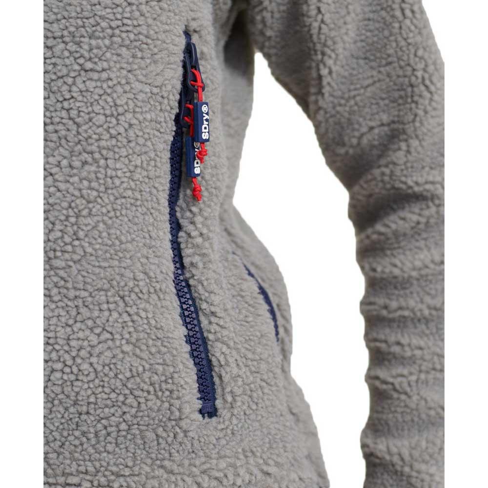 Superdry CELSIUS SHERPA - Hoodie - mid grey