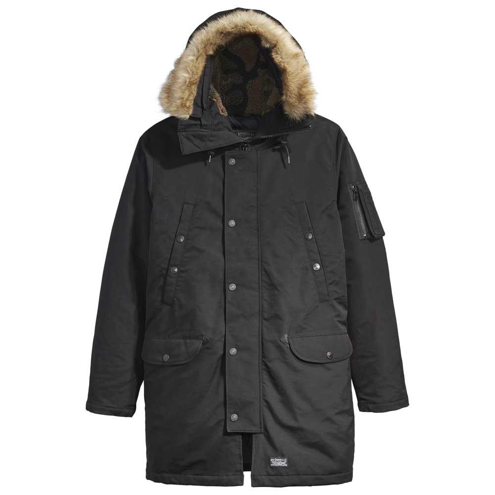 Down Davidson Parka Coat Black   Levi