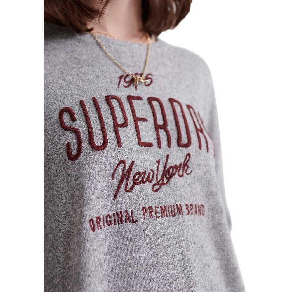 Superdry Maddie Graphic LS Top Camisa Manga Larga para Mujer