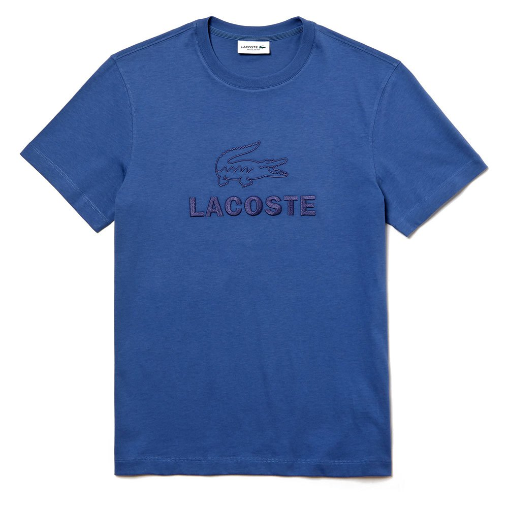 Lacoste Crew Neck Tone On Tone Embroidery Cotton