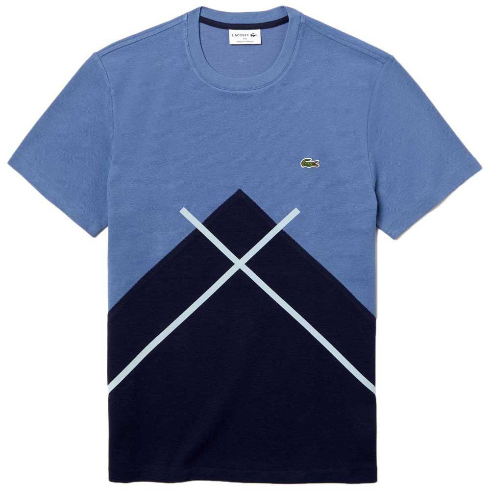 Lacoste Made In France Crew Neck Jacquard Patterned Pique