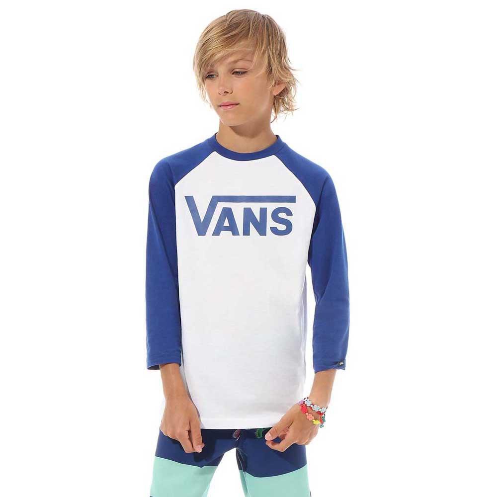 Vans Classic Raglan Long Sleeve T-Shirt White, Dressinn