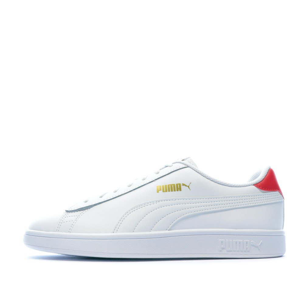 Puma Smash V2 L EU 44 Puma White / High Risk Red / Puma Team Gold