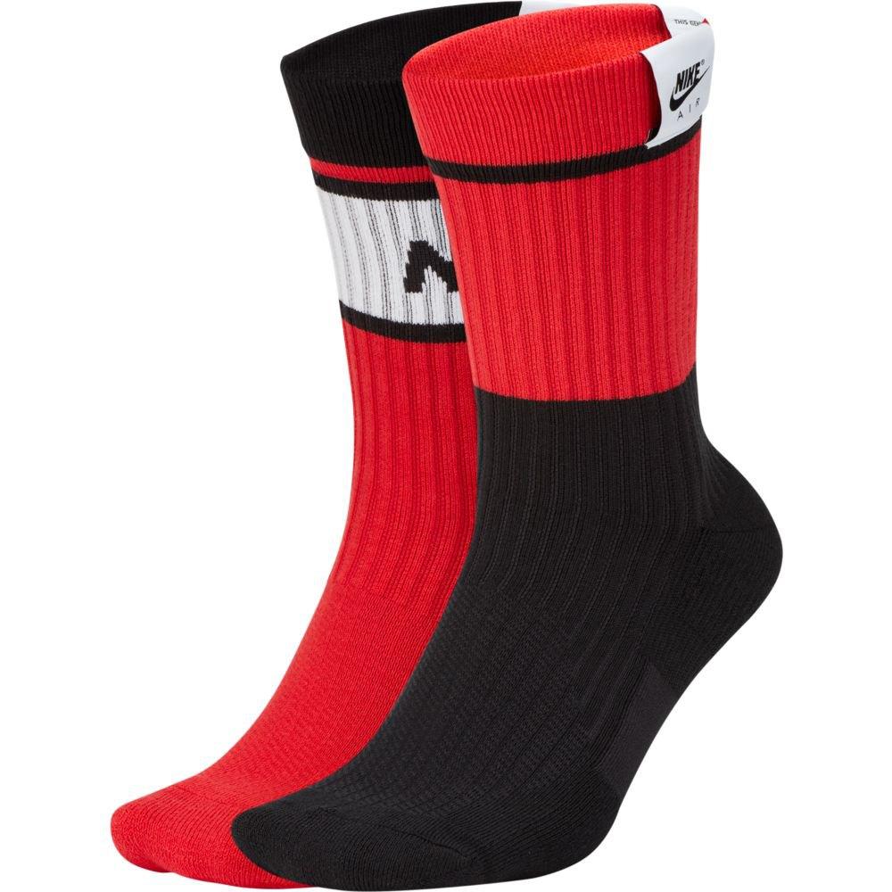 Nike Sneaker Sox Crew Air 2 Pair Rojo