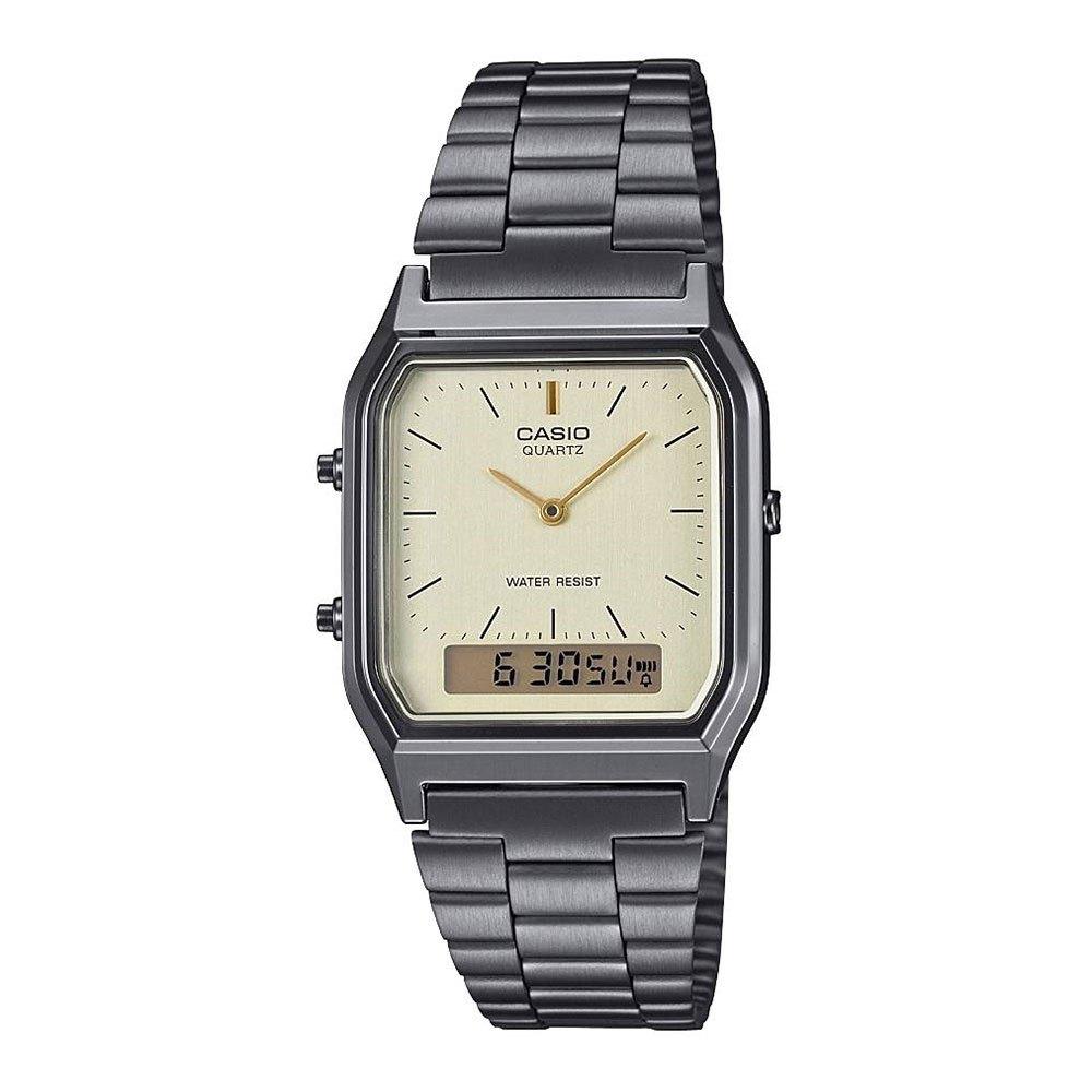 Relógios Casio Vintage Aq-230egg-9aef One Sieze Stainless Steel