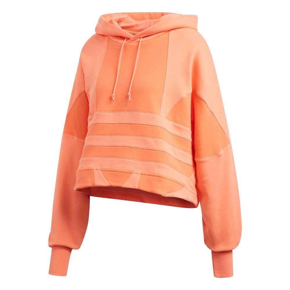 adidas Originals CROPPED LARGE LOGO HOODIE - Hoodie - orange
