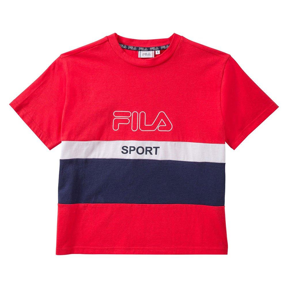 Red T-shirt  Fila  T-shirt med tryck