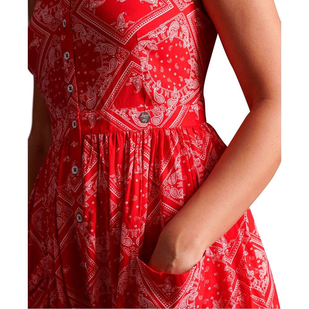 Superdry AMELIE CAMI DRESS - Kjole - red