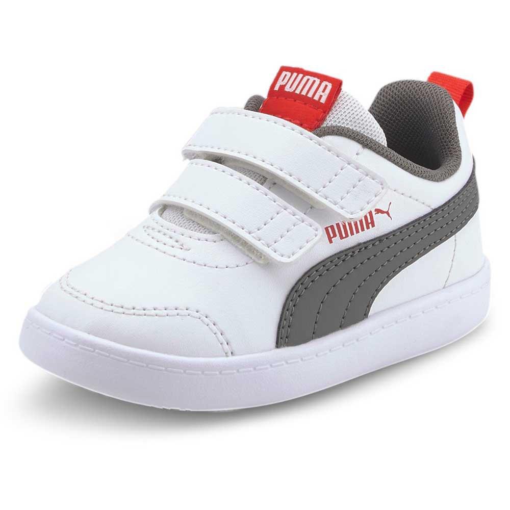 Puma Courtflex V2 Velcro Infant Trainers White, Dressinn