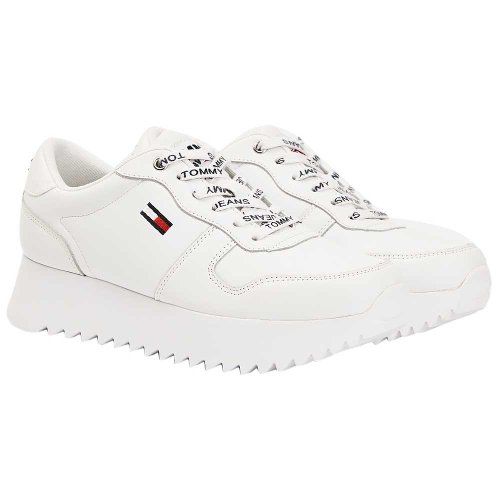 Tommy jeans High Cleated Leather White