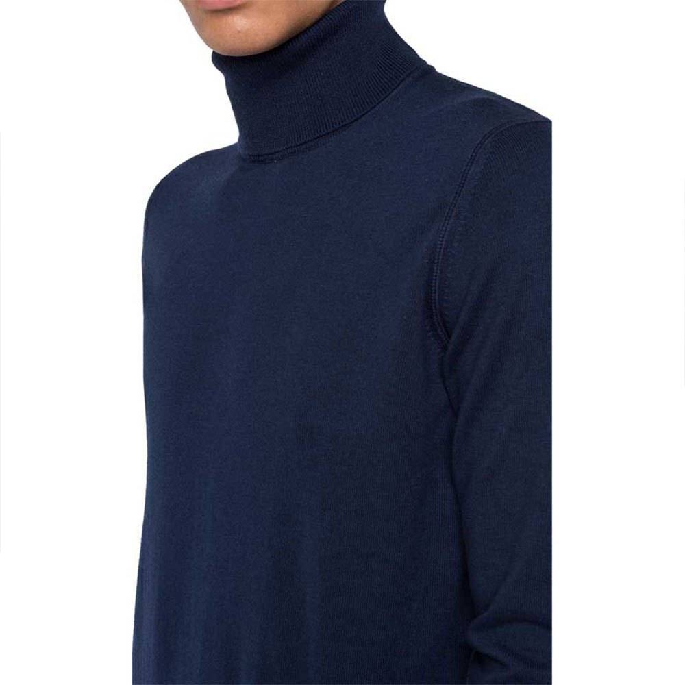 Replay UK3060 Turtleneck Wool /& Cotton Knitted Jumper Black