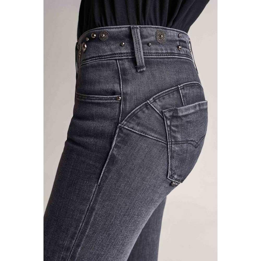 Salsa Jeans Push Up Wonder Skinny Con Bordado En La Cintura Negro Dressinn