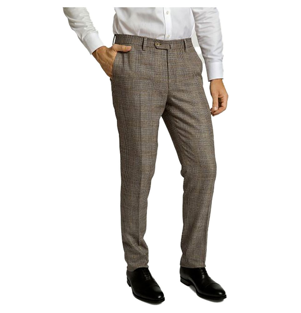 Hackett Brown Mouline Check Pants