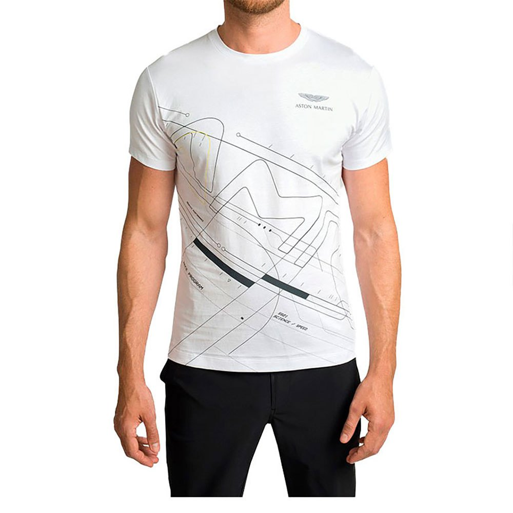 Hackett Aston Martin Geometric Short Sleeve T-Shirt