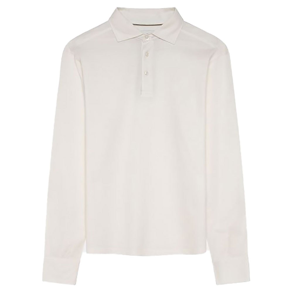 Hackett Sr Cotton Silk Piqué Long Sleeve Polo Shirt