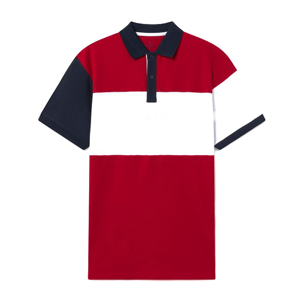 Hackett Panel Multi Short Sleeve Polo Shirt