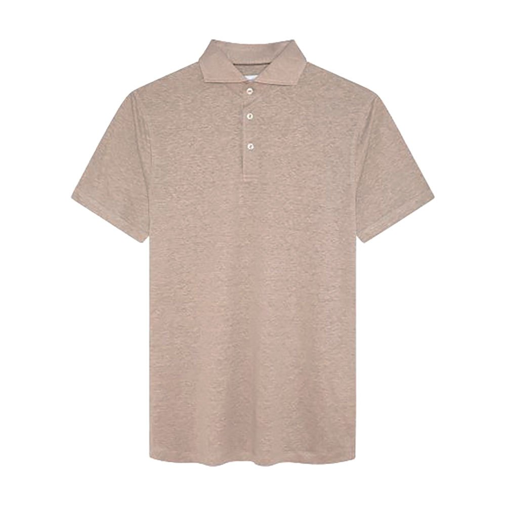 Hackett Sr Linen Short Sleeve Polo Shirt