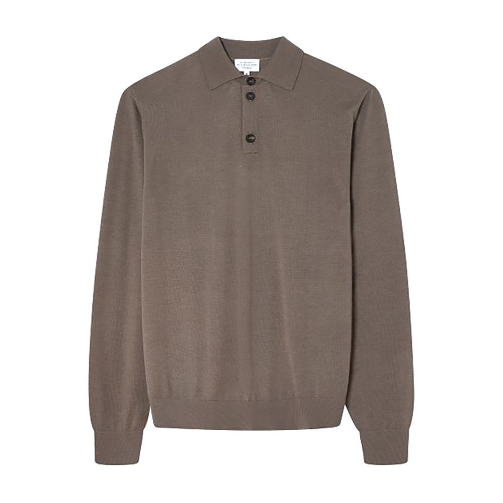 Hackett Sr Cashmere Silk Long Sleeve Polo Shirt