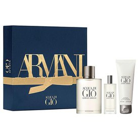 Giorgio armani Acqua Di Gio Eau De Toilette 100ml+Eau De Toilette 15ml+Bath Gel 75ml Pack