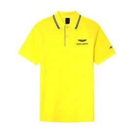 Hackett Aston Martin Racing Jaquard Tipped Short Sleeve Polo Shirt