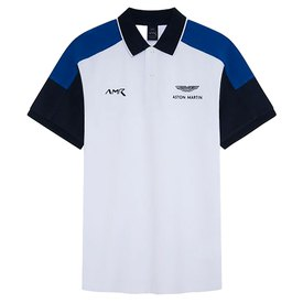 Hackett Aston Martin Racing Color Block Panel Short Sleeve Polo Shirt