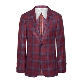 Hackett SR Wool/Silk/Linen Check Blazer