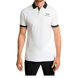 Hackett Aston Martin Racing Fashion Polket Short Sleeve Polo Shirt