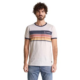 Salsa jeans With Stripes On Chest Short Sleeve T-Shirt