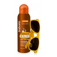 Babaria Bronzer Express Spf20 Spray Dry 200 ml Free Sunglasses